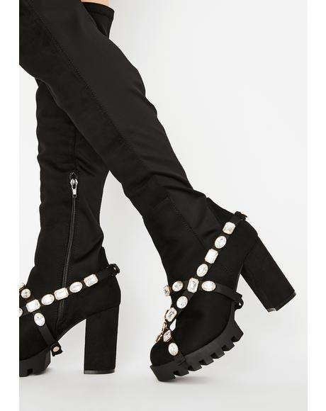 Fame Hungry Knee High Boots