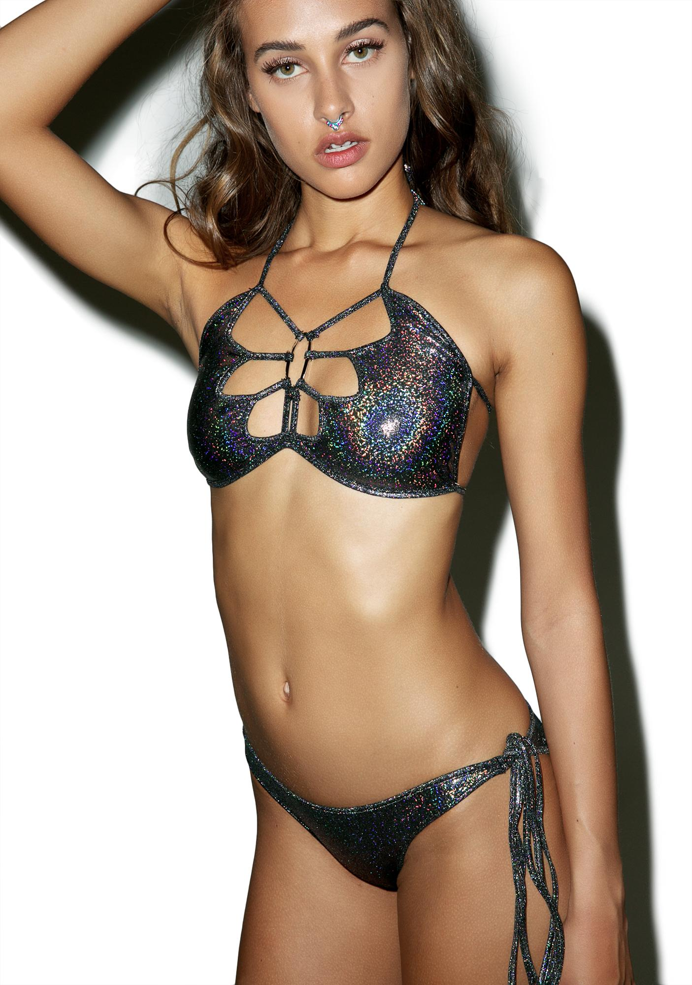 New Moves Holographic Ruched Panty