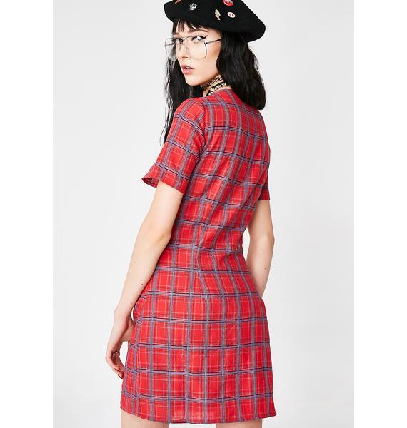 Ditch Detention Plaid Dress
