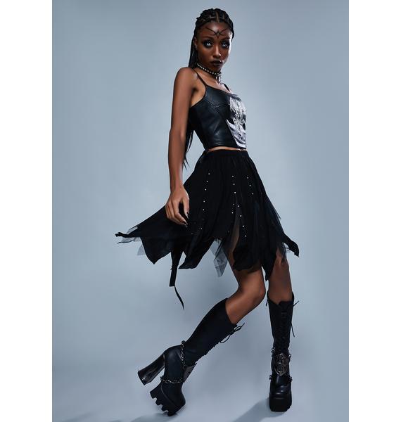 Widow Light The Fire Midi Skirt