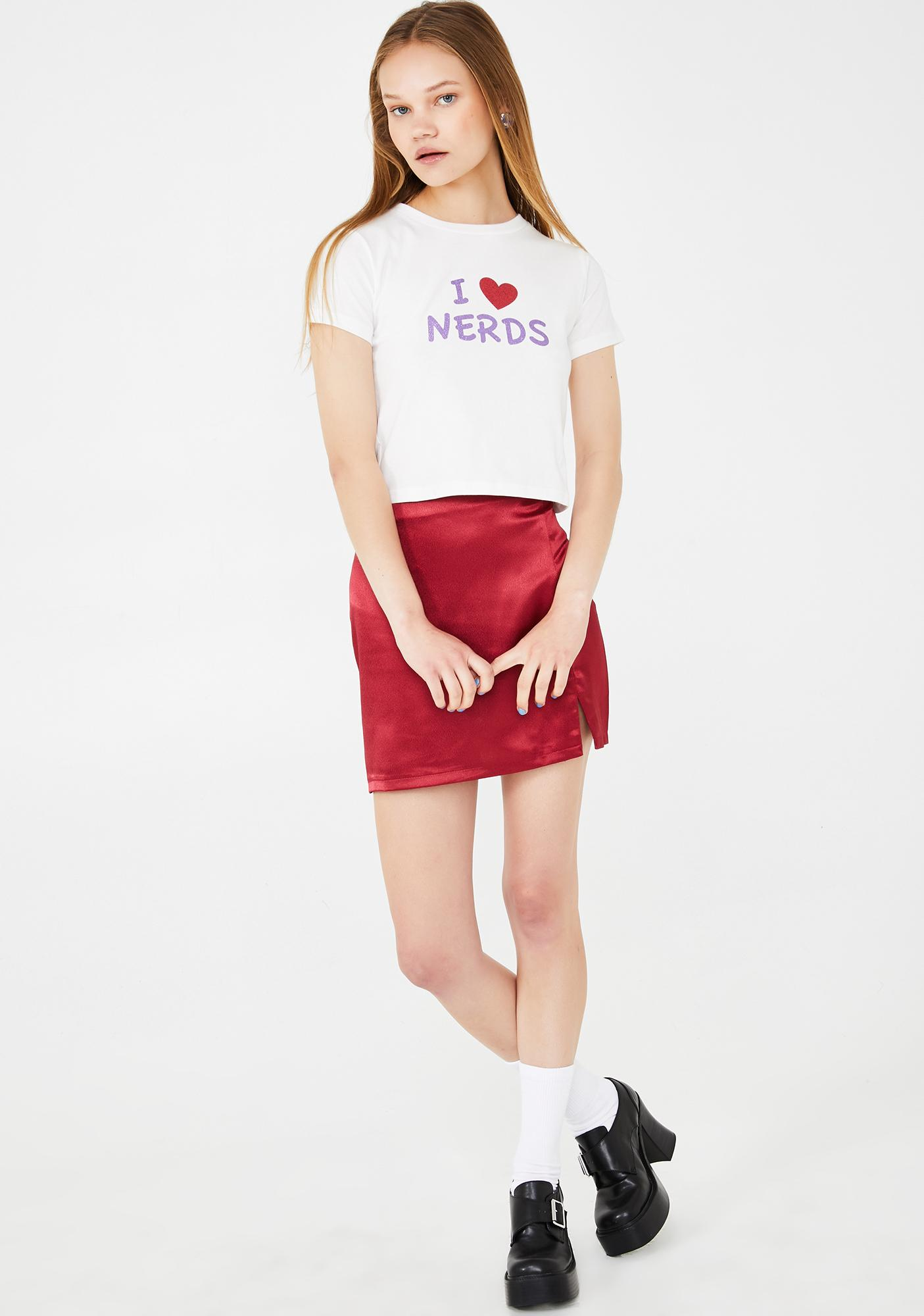 dELiA*s by Dolls Kill Nerdy Lover Baby Tee