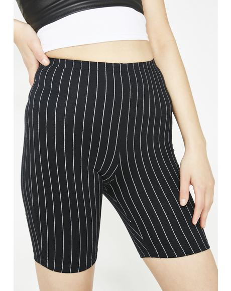 Pinstripe Cycle Shorts