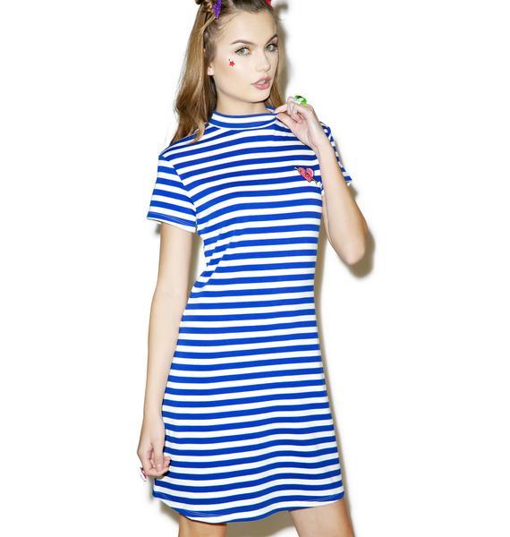Lazy Oaf Heart Stripe Dress