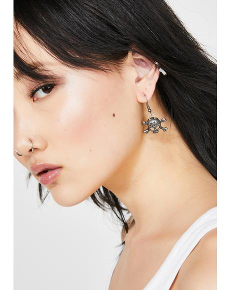 Toxxic Baddie Skull Earrings