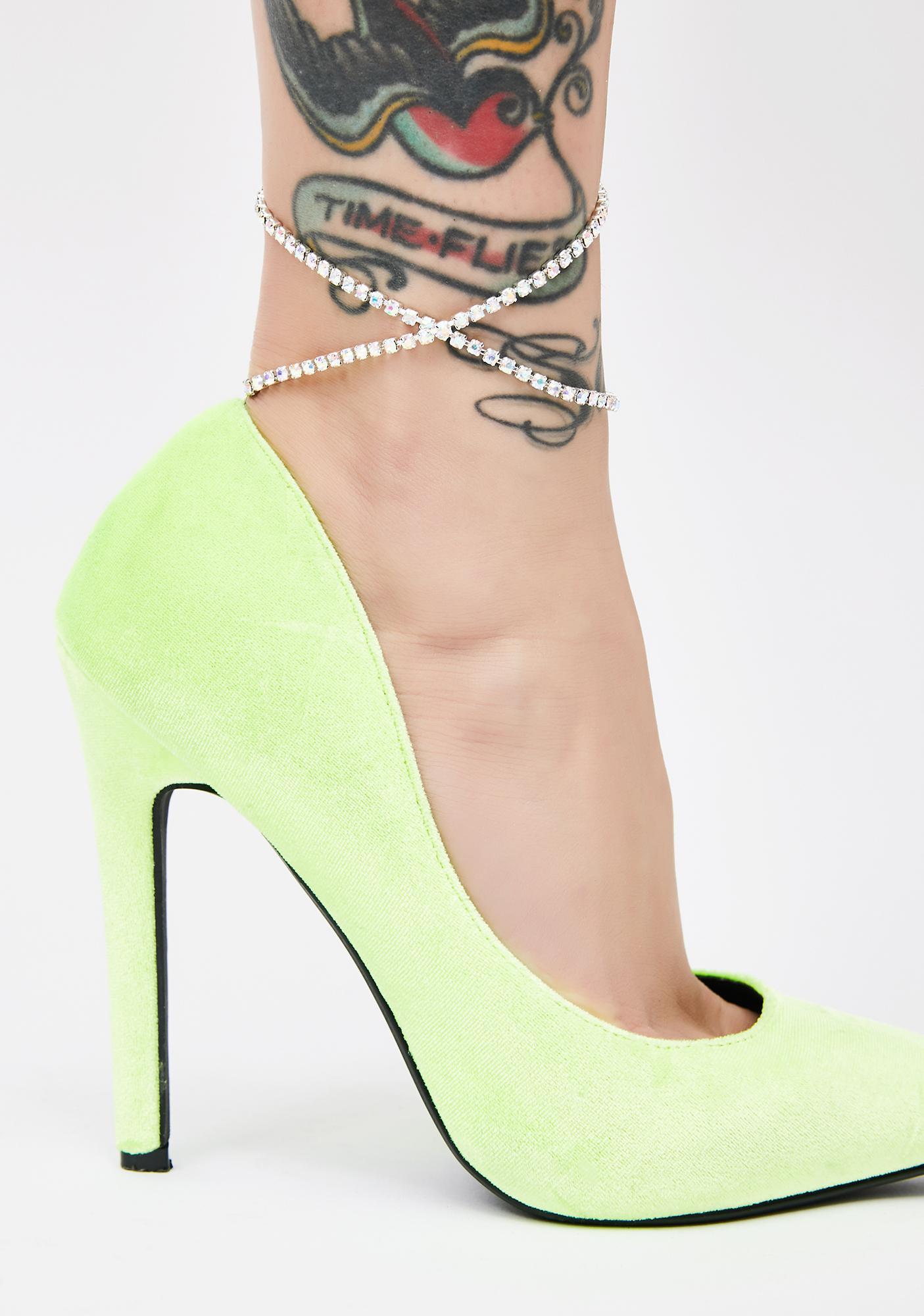 Shinin' BB Rhinestone Leg Harness