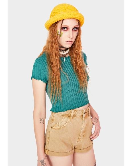 Harvest Brown Duster Shorts