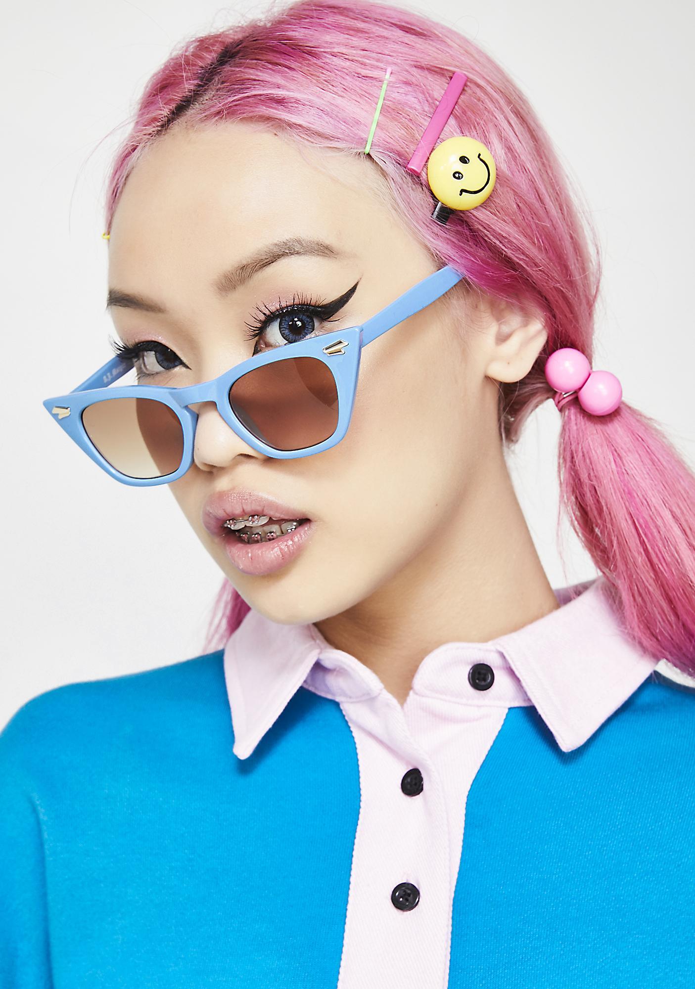 Topaz Down For It Cat Eye Sunglasses