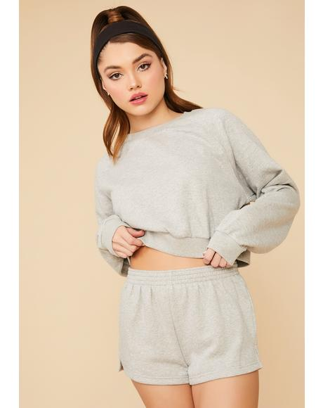 Slate Calling Crazy Cropped Crewneck Pullover