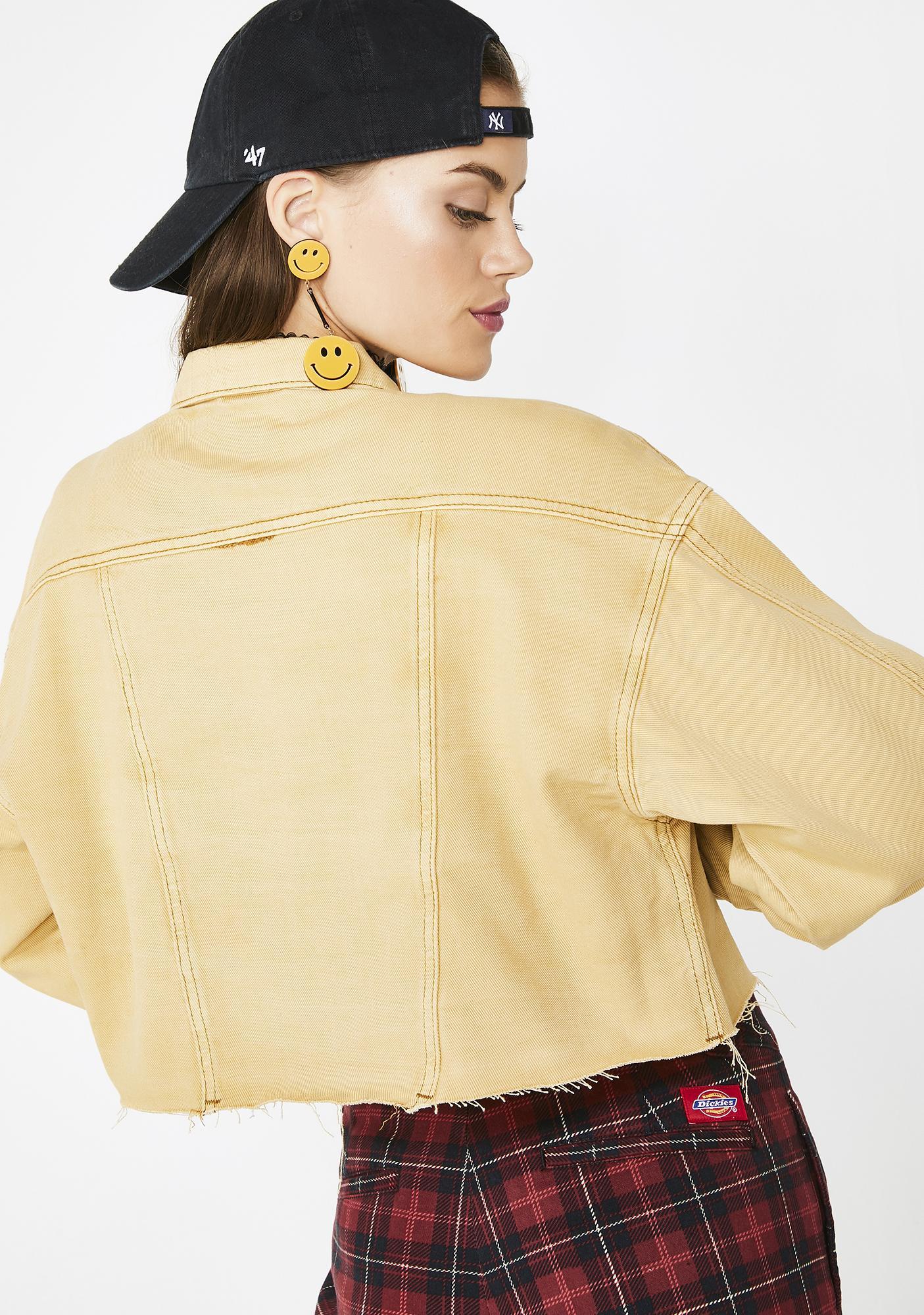 Mocha My Prerogative Cropped Jacket