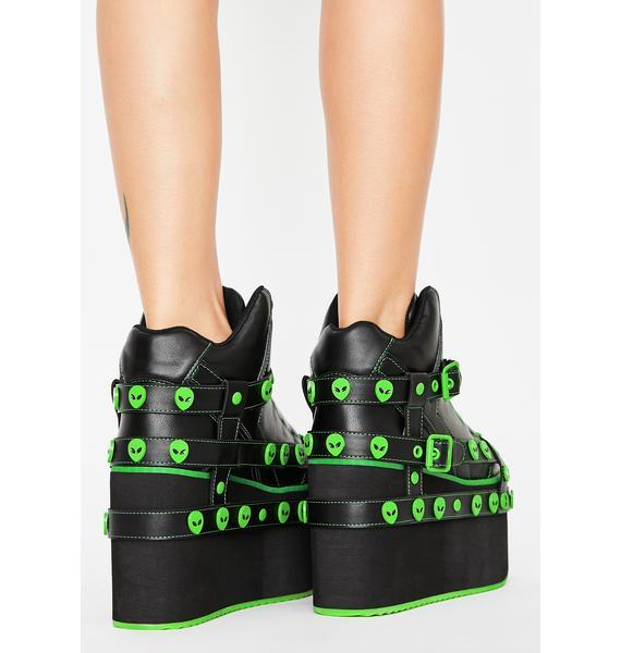 Y.R.U. Aliens Qozmo Bondage Platform Sneakers