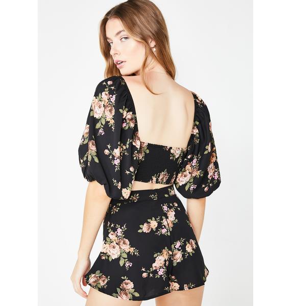 Sugar Thrillz Sweet Savage Love Floral Shorts