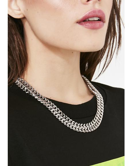 Alloy Drip Chain Necklace