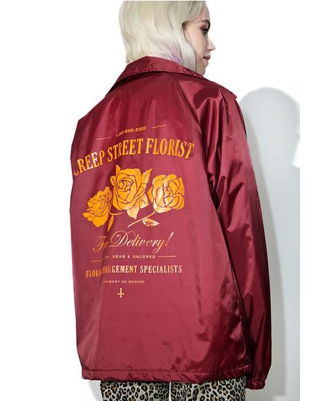 Redd Creepy Florist Coaches Jacket