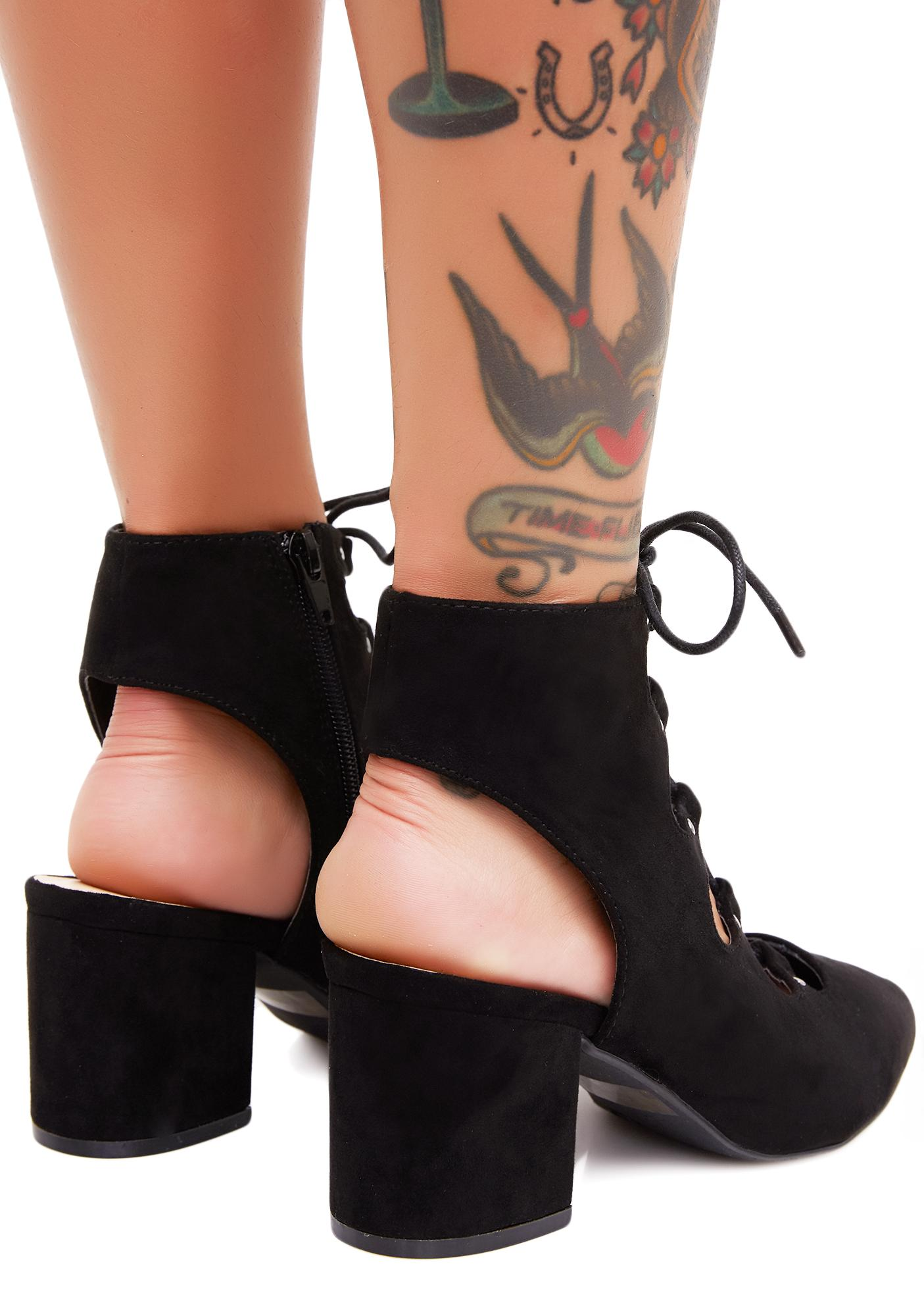 Veruca Salt Lace-Up Heels