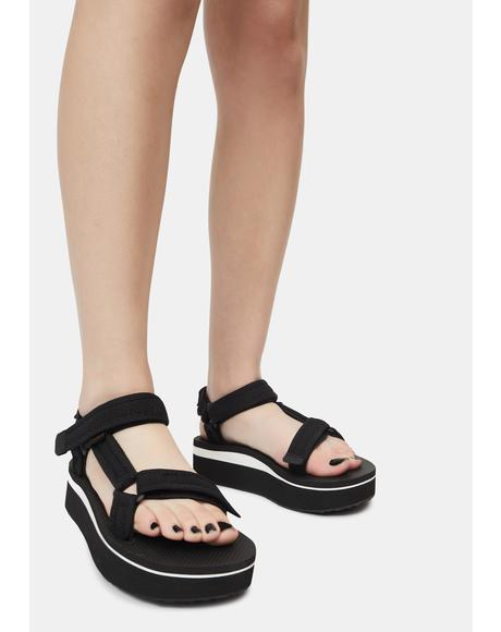 Mesh Flatform Universal Sandals