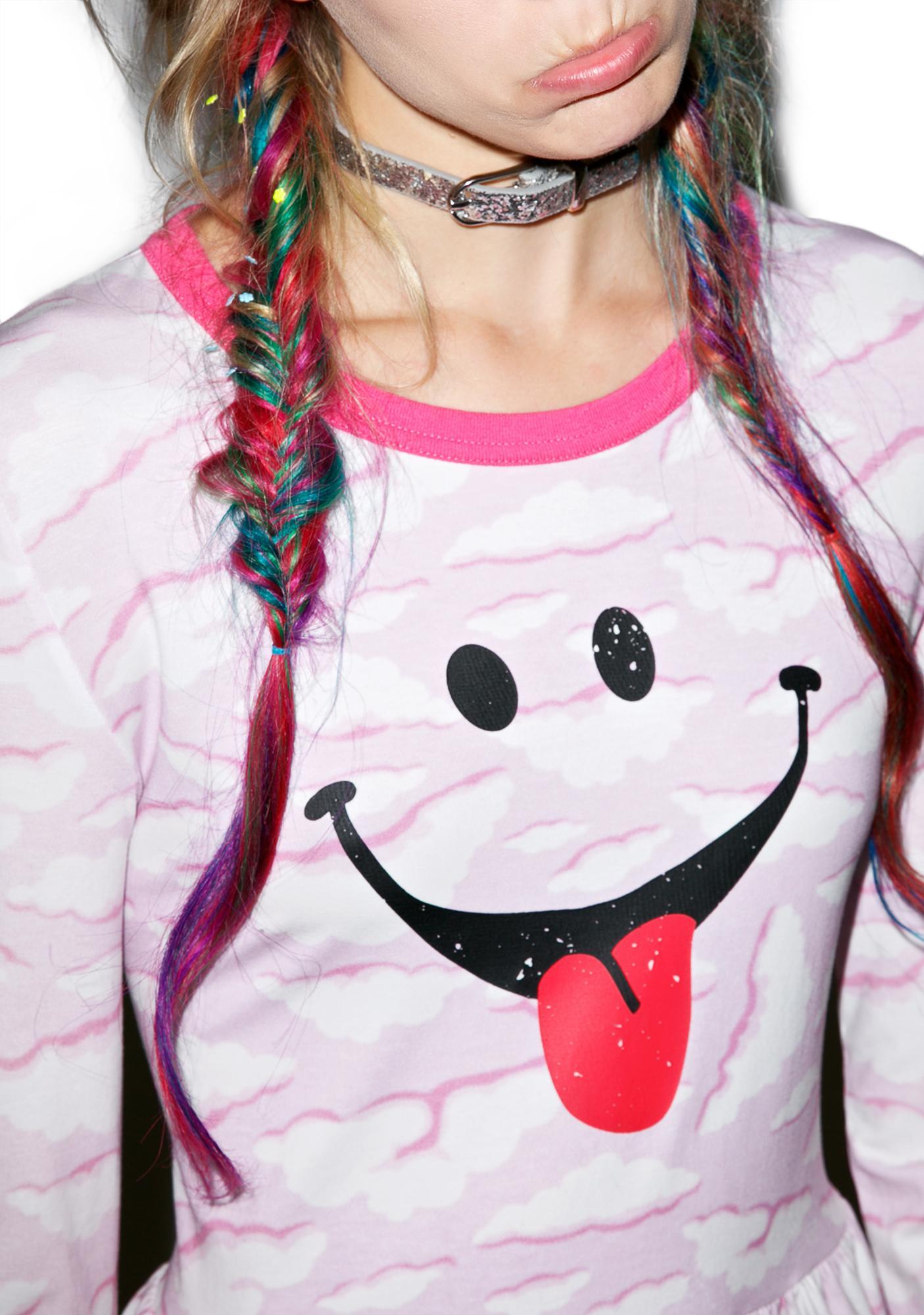 Little Sunny Bite Cloud Face Skater Dress