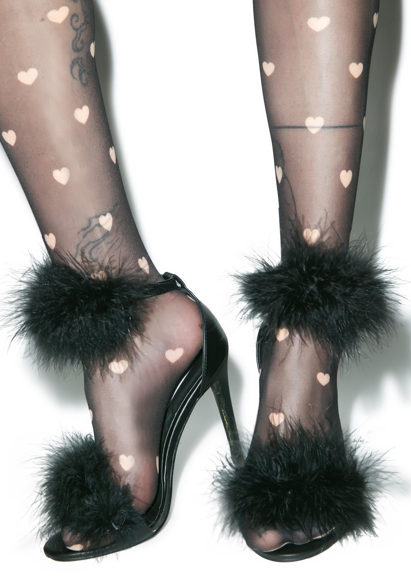 Grrl Next Door Fluffy Heels