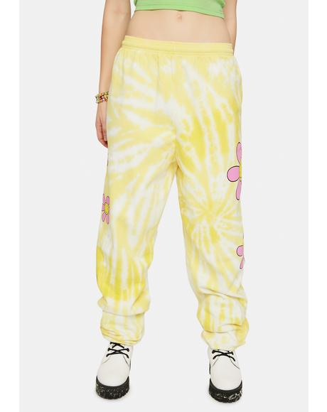 Hazy Daisy Tie Dye Sweatpants