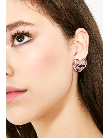 Cutie BB Heart Earrings
