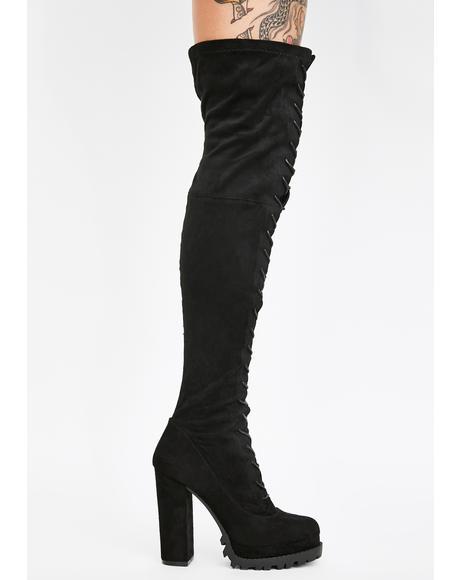 Dangerous Love Knee High Boots