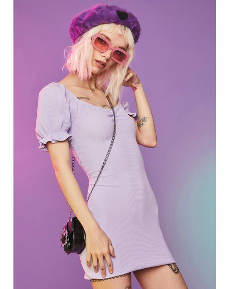Lilac You're A Wildcard Mini Dress
