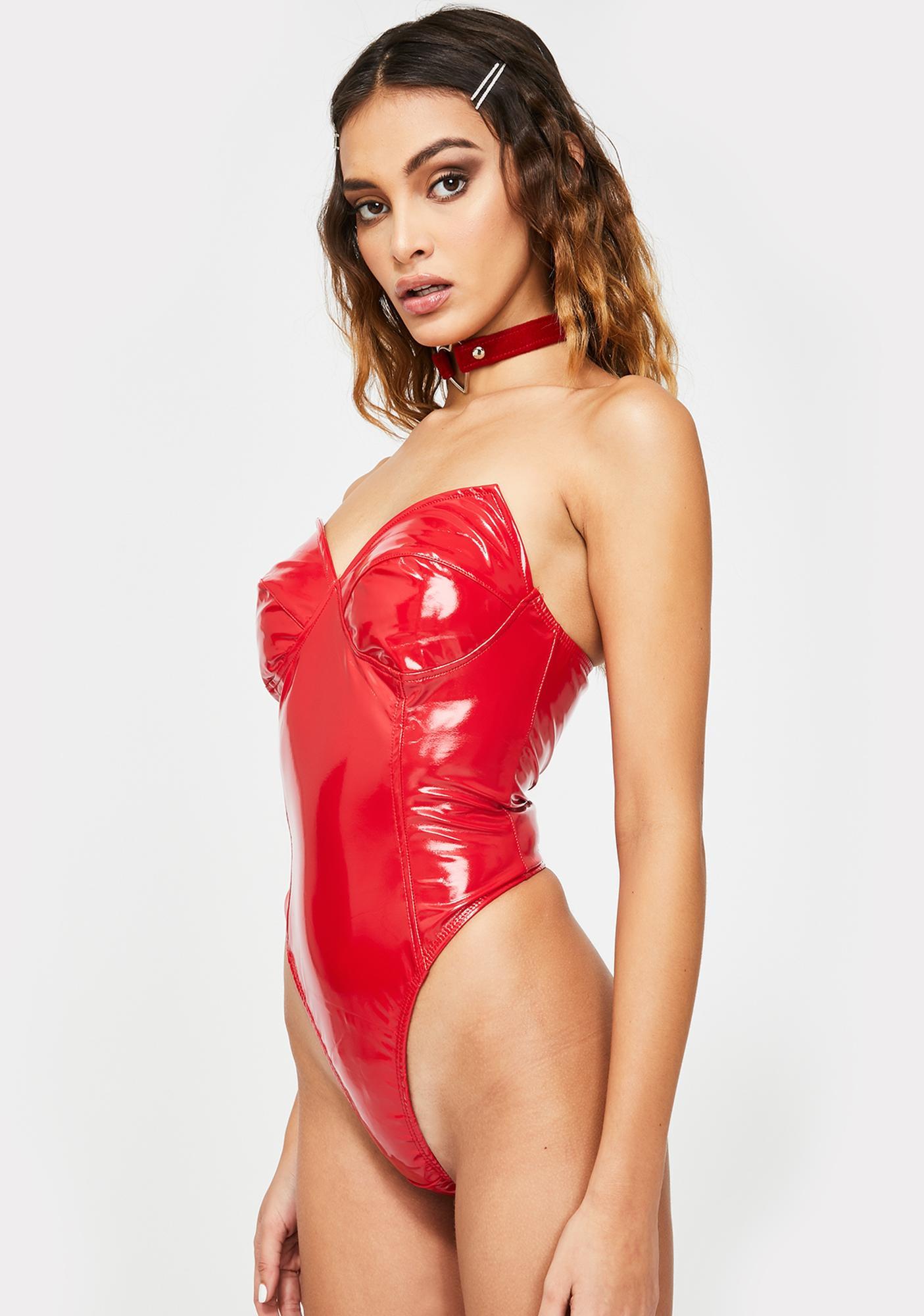 Roma High Demands Vinyl Bodysuit