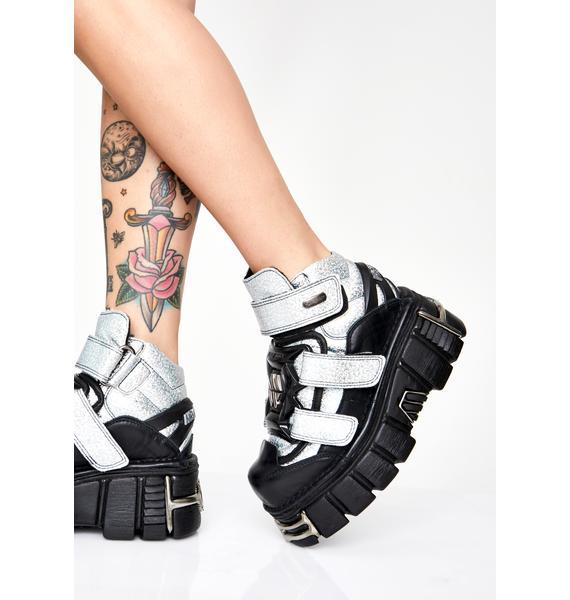 New Rock Transform Ya Buckled Boots