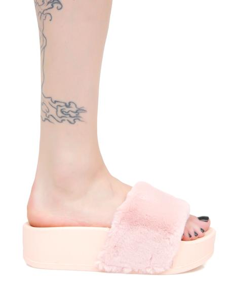 Strawberry Paxton Furry Slides