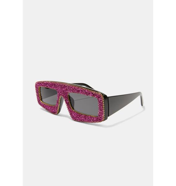 Gossip Glam Shield Sunglasses