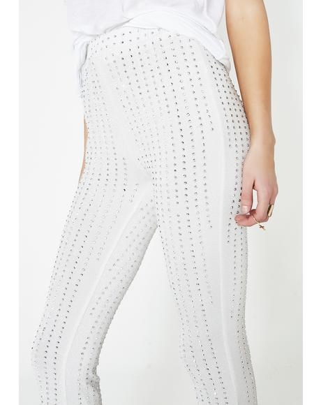 Already Famous Rhinestone Leggings