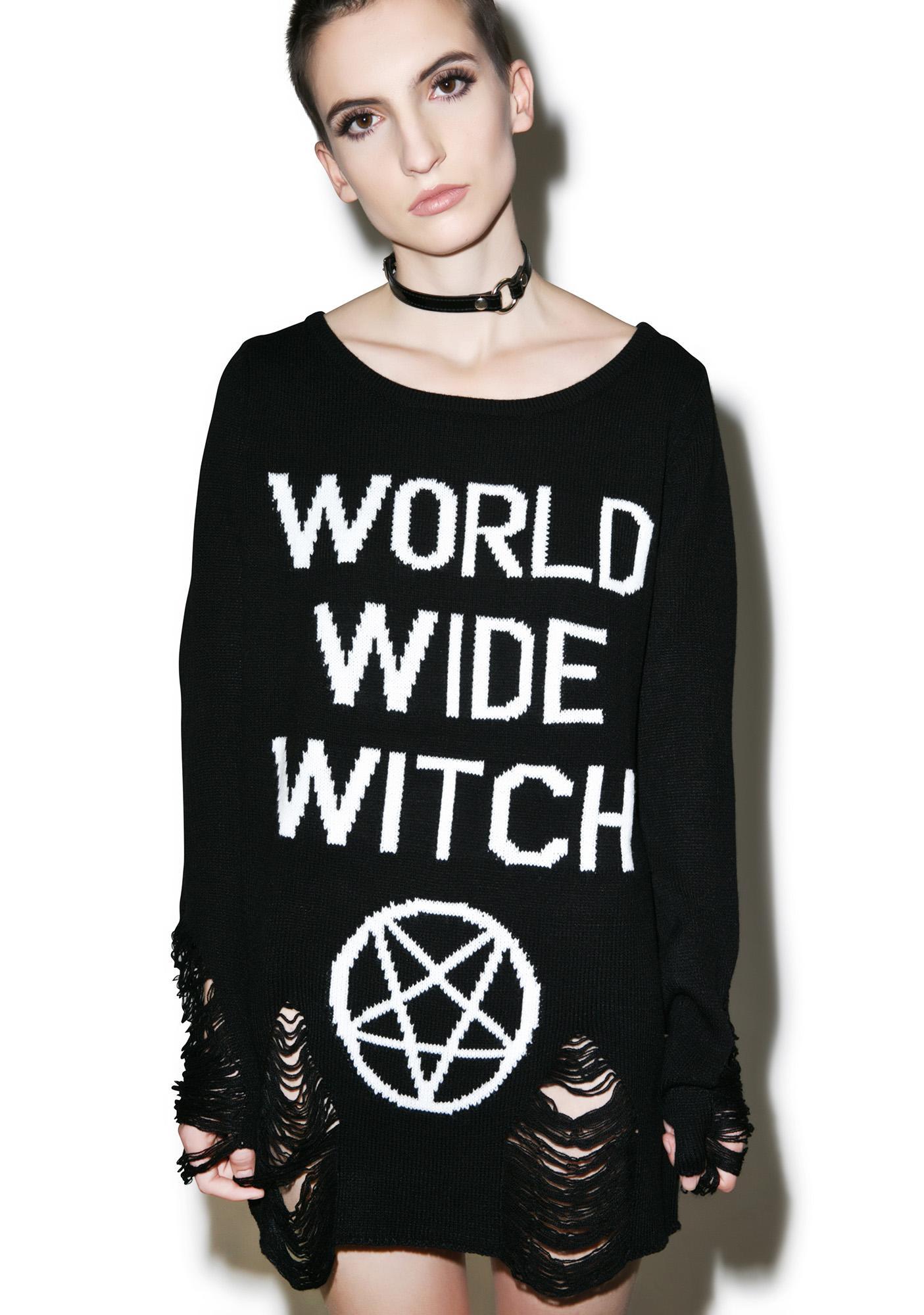 Killstar WWW Knit Sweater