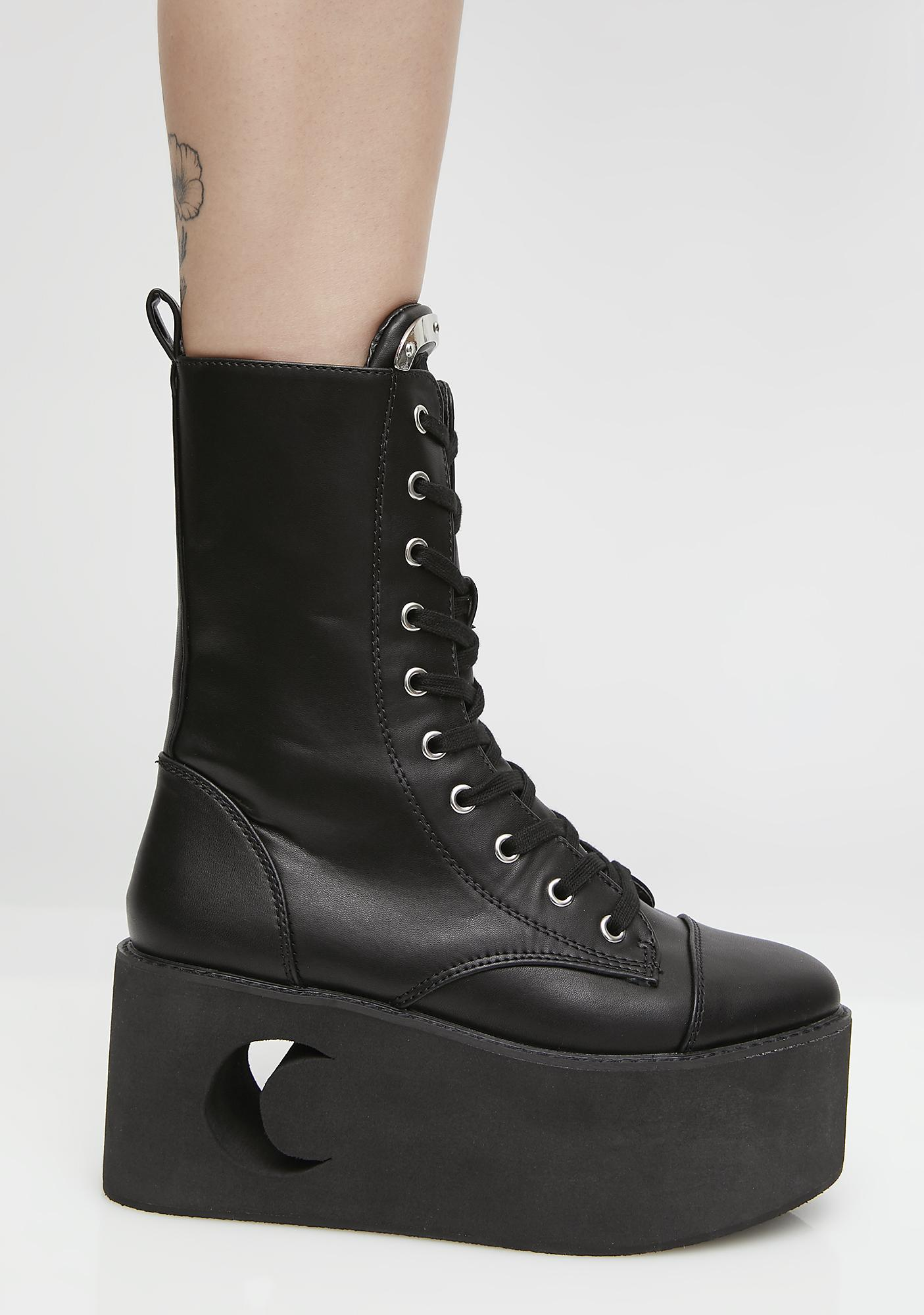 Killstar Eternal Eclipse Platform Boots