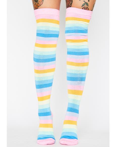 Gone To Candyland Striped Socks