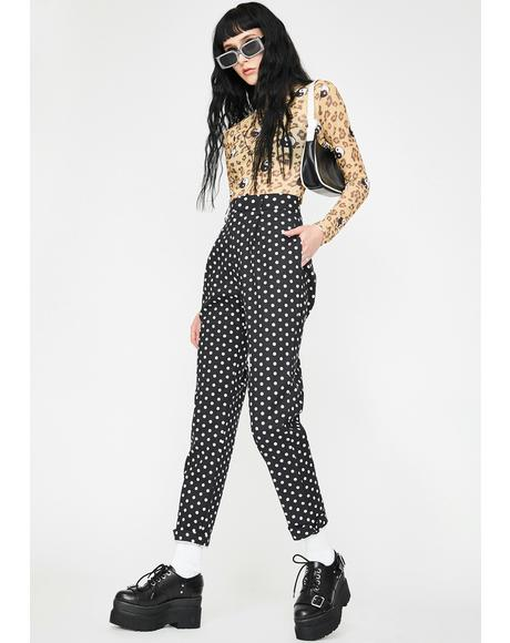 Polka Dot Cigarette Trousers