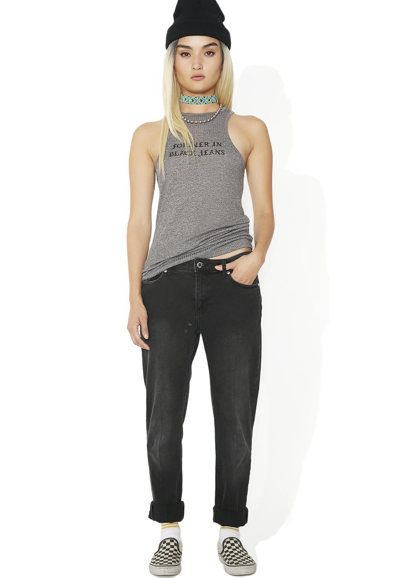 Obey Forever In Black Jeans Brando Tank