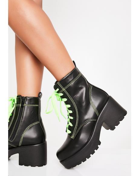 Slime Kitana Combat Boots