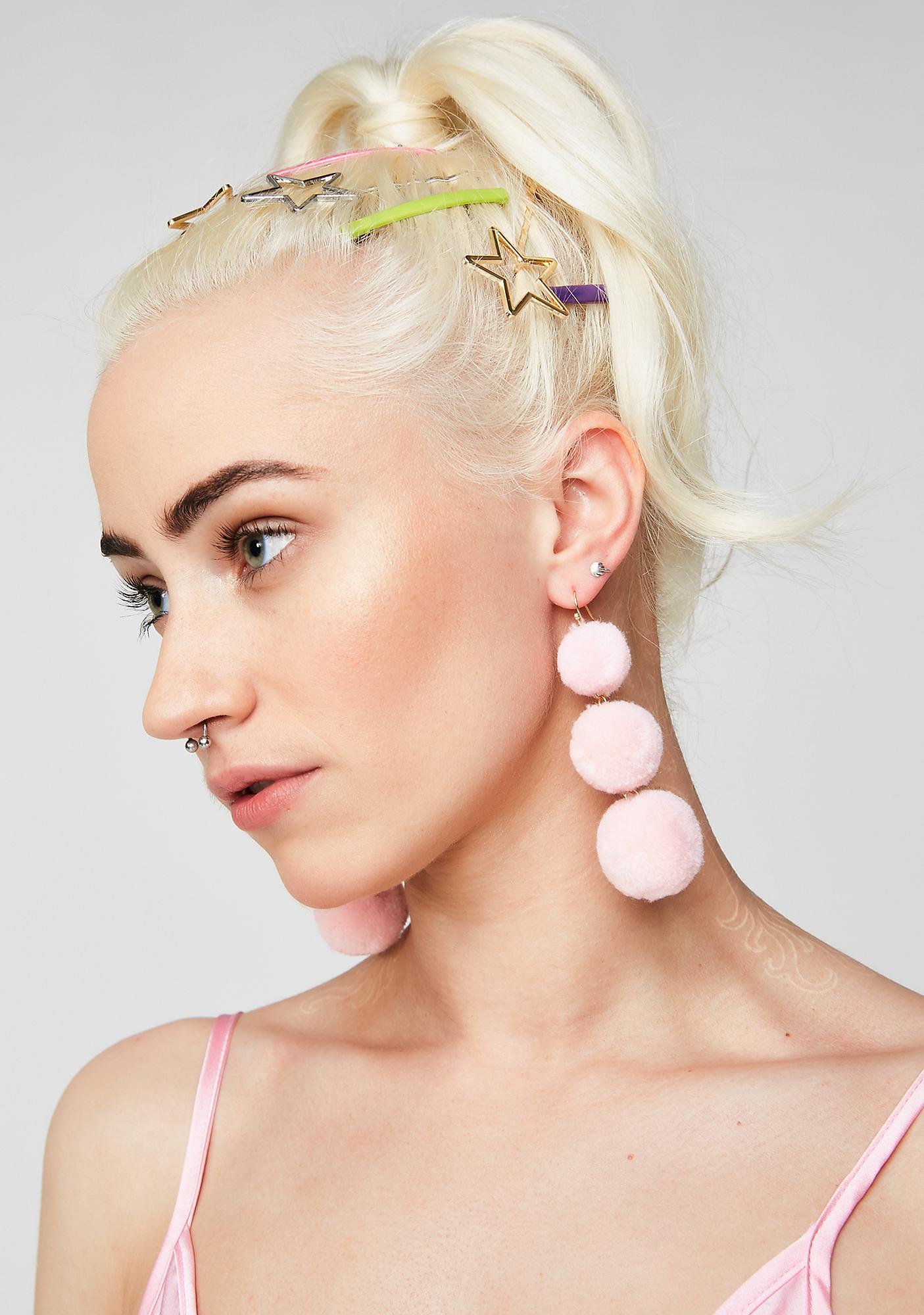 Lil' Fluff Ball Earrings