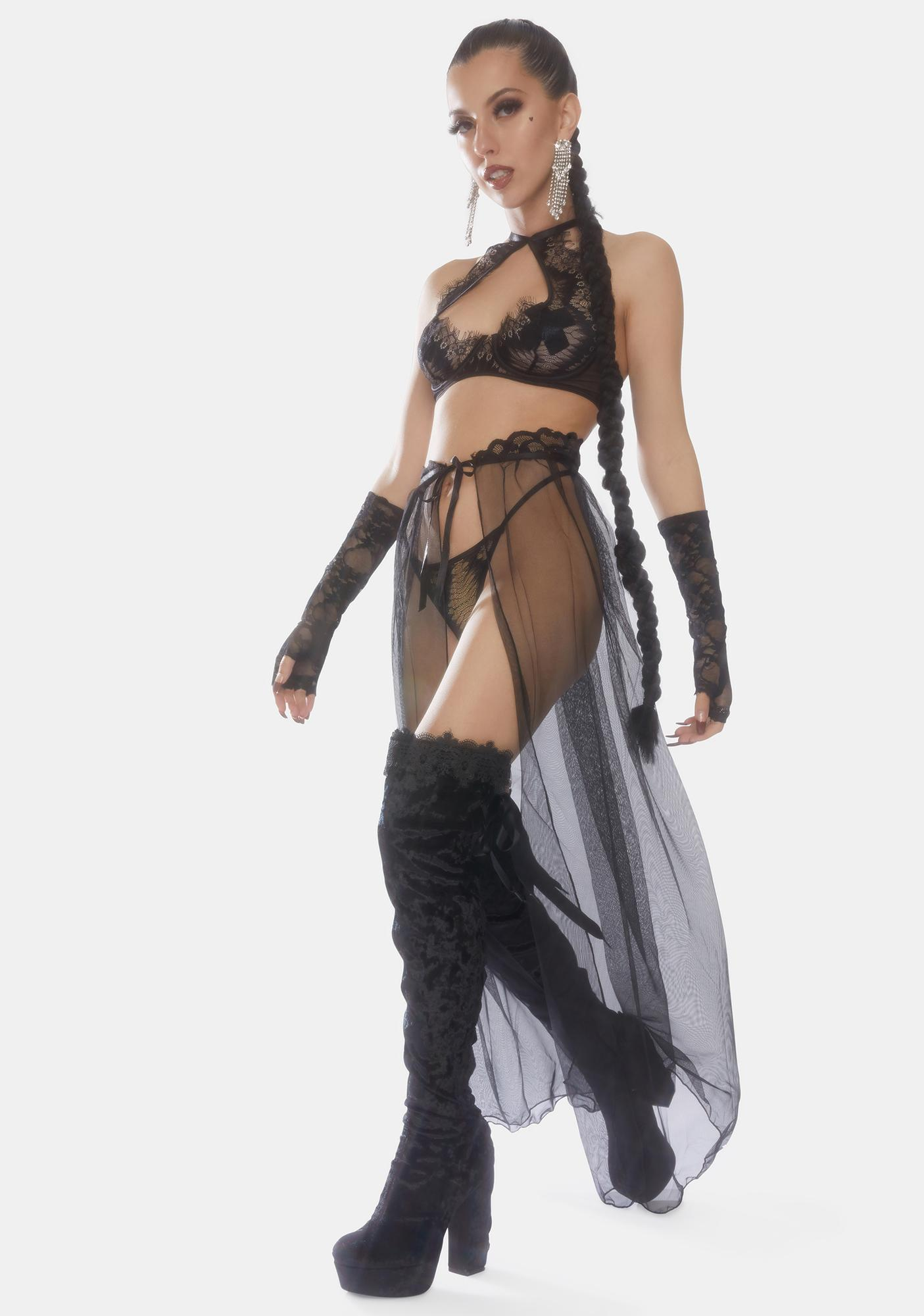 Oh la la Cheri Jeana High Waist Slip Skirt