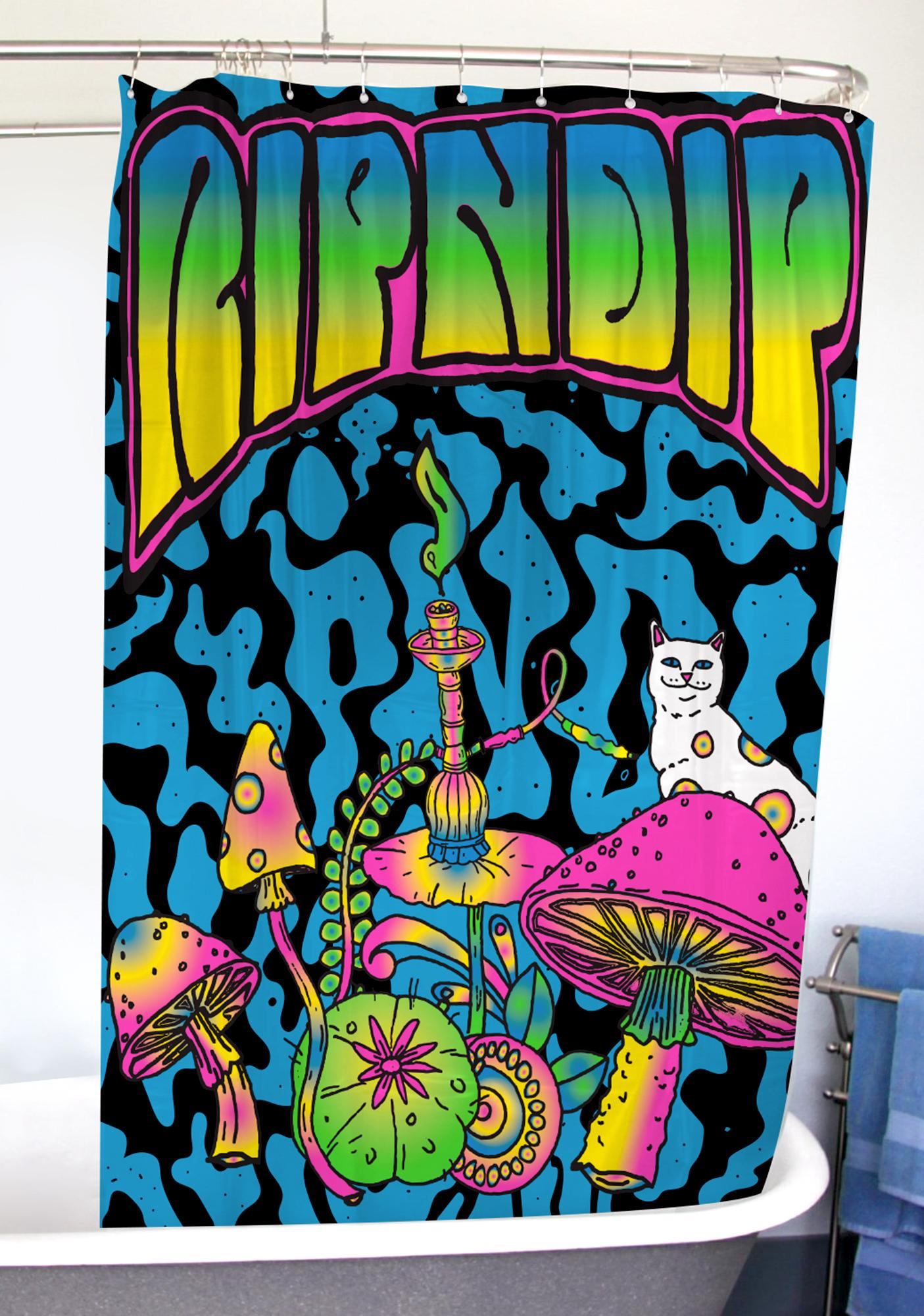 RIPNDIP Psychedelic Shower Curtain