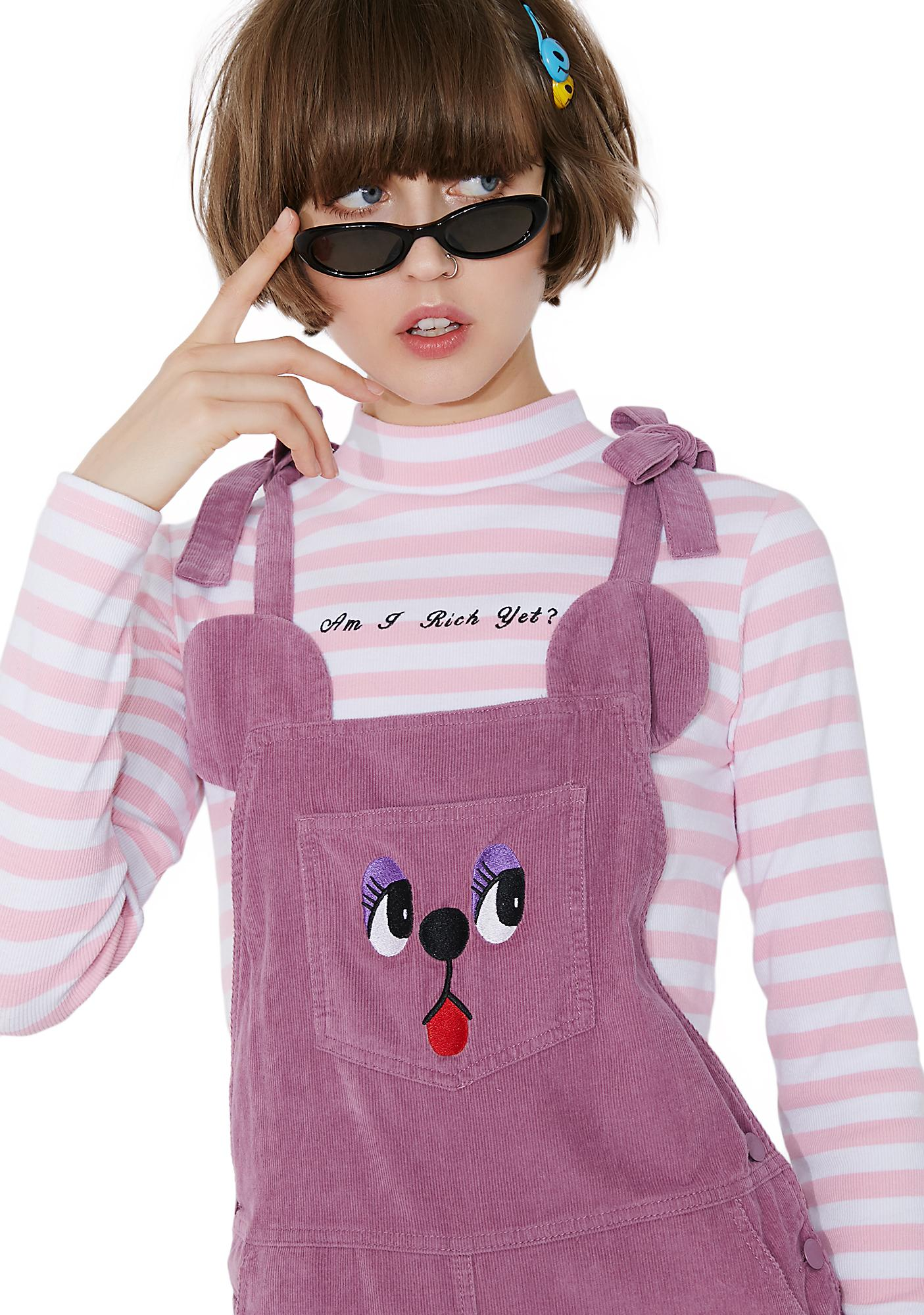 Lazy Oaf Bow Tie Bear Pinafore Dress