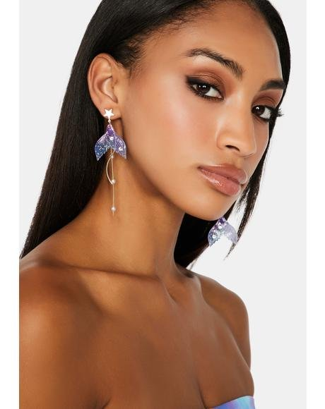 Mermaid's Tale Drop Earrings
