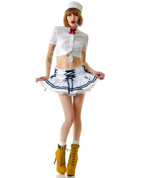 Motley Nautical Sailor Mini Skirt
