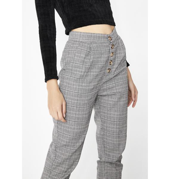 Let It Be Plaid Trousers