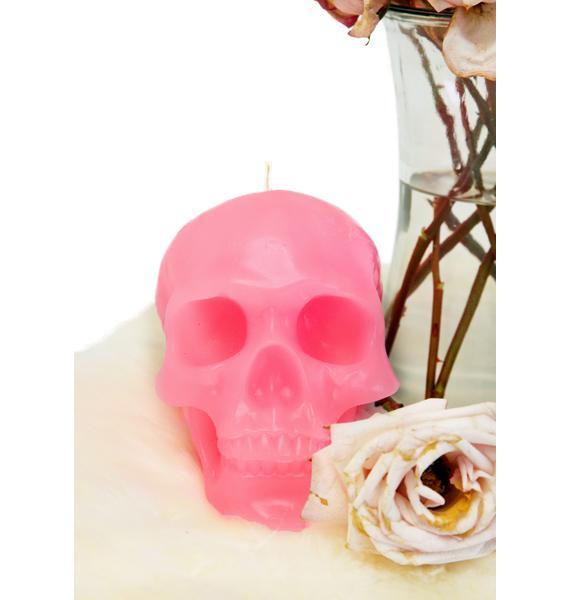Killstar Pink Skull Candle