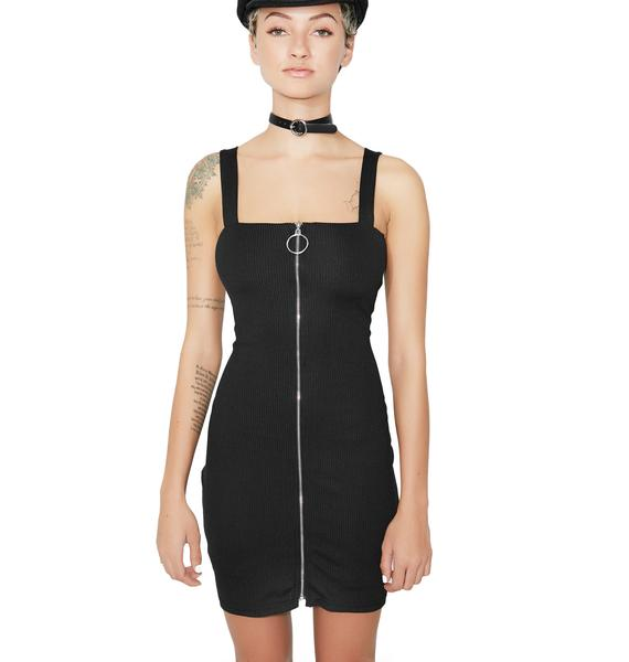 On The Town Zip-Up Dress