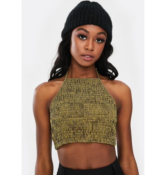 Twiin Analogue Checkered Crop Top