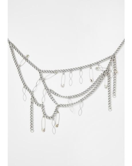 Havoc Safety Pin Necklace