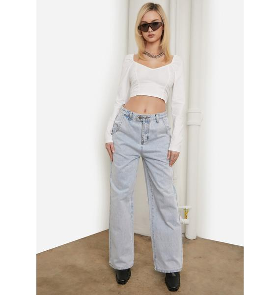 Boo I'll Be Your Girl Ruched Crop Top