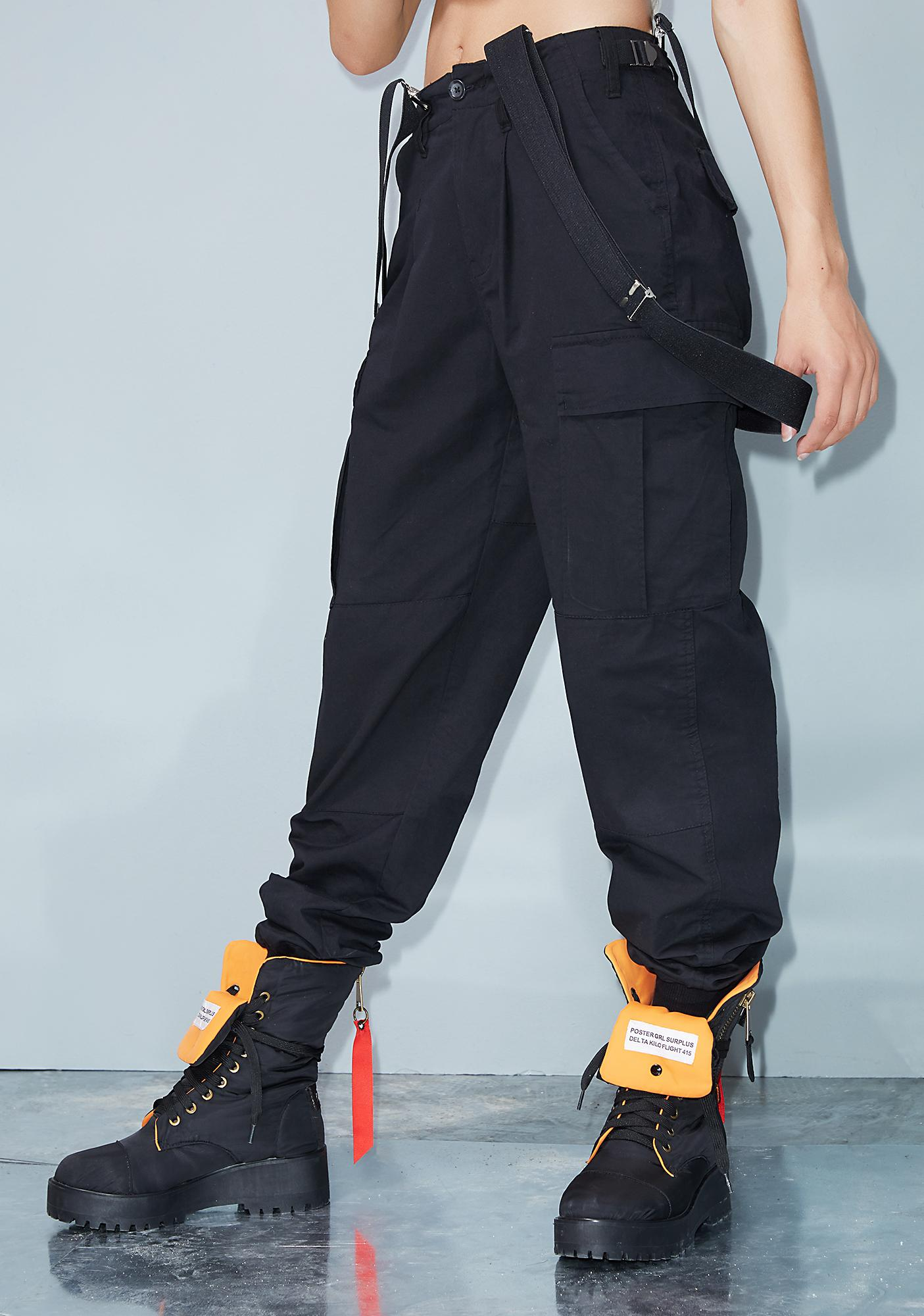 special for shoe extremely unique Sales promotion Mind Ya Bizness Suspender Cargo Pants