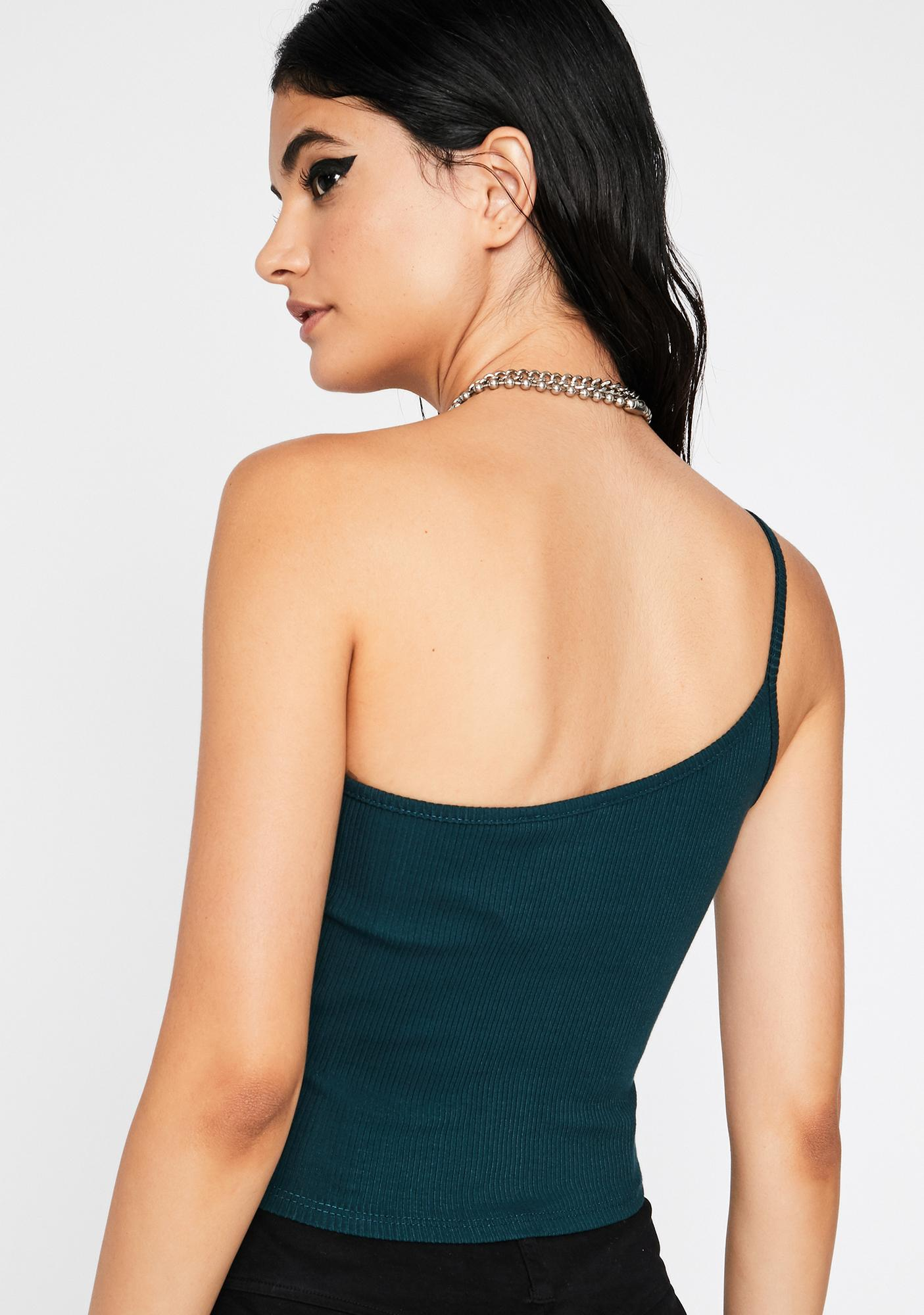 Emerald All Night N' All Day One Shoulder Tank
